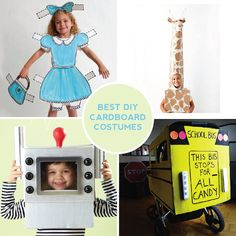 """The 4 Best Cardboard DIY Costumes.  Click on """"Blogs"""" on the website this takes you to and scroll down for costume patterns."""