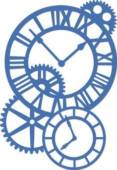 Decorative Die Cogs & Clocks