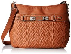 Rosetti Twist It Up Convertible Quilting Cross Body Bag Chestnut One Size *** Visit the image link more details.