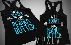 Fitness Tank Top Racer Back Jr. Fitted Black Will Squat by MPXLV, $15.95