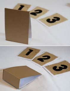 DIY Burlap Table Numbers - Wedding Project Tutorial
