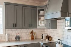 When deciding to paint your kitchen cabinets, there are many different things to worry about: what color you want your cabinets to be so they will go with your kitchen, when you will have time to paint them, and of course, the cost. Following are five common mistakes to avoid when painting your kitchen cabinets. Grey Kitchen Cabinets, Grey Kitchen Walls, Kitchen Design, Grey Kitchen Designs, White Kitchen Cabinets, Grey Cupboards, Gray And White Kitchen, Light Grey Kitchens, Grey Painted Kitchen