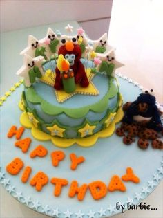 Baby Elmo n Cookie Monster Cake by... Cake it with Barbara <3