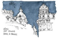 Genova, Borsa by gerard michel, via Flickr (colorear el cielo y dejar el resto del dibujo en blanco y negro)
