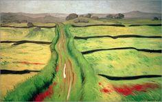 Felix Edouard Vallotton - Path in a meadow
