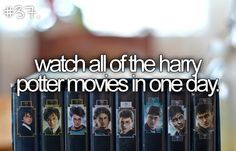 harry+potter+bucket+list | bucket list: watch all of the harry potter movies in one day. by ...