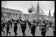 USSR. Moscow. 1957. Parade in Red Square for the 40th anniversary of the Bolshevik Revolution by Elliott Erwitt
