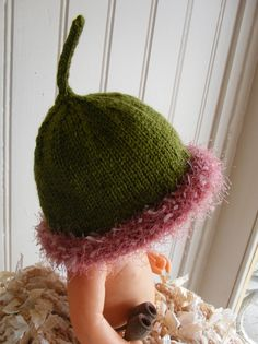 Gumnut Beanie van FibreDelights op Etsy, $17.00 Crochet Baby Hats, Baby Knitting, Knitted Hats, Knit Crochet, Start Knitting, Baby Hat Patterns, Crochet Patterns, Australian Gifts, Australian Party