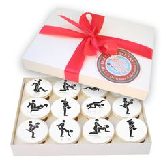 Send some very naughty cupcakes to a friend as a joke or take them to a hen, stag or office party. Each cupcake box set is made fresh to order and will taste delicious. Each cupcake measures 6.5cm across. Quantity - 12 to 1 box. A gift message can be entered at checkout.