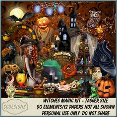 Witches Magic Kit (TS/PU/S4H) [CCD] : Scrap and Tubes Store, Digital Scrapbooking Supplies Kit, Scrapbook Supplies, Digital Image, Creative Design, Digital Scrapbooking, Cool Pictures, Craft Projects, Magic, Witches