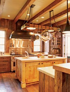 love the wood the rustic feel..... love kitchens made a board just for kitchens now
