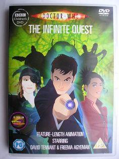 """""""The Infinite Quest"""" è un'avventura a cartoni animati che fa parte della nuova serie di """"Doctor Who"""", dove si inserisce nella terza stagione, trasmessa nel 2007 con il Decimo Dottore e Martha Jones. È scritta da Alan Barnes e diretta da Gary Russell. Immagine dall'edizione britannica del DVD. Clicca per leggere una recensione di quest'avventura!"""