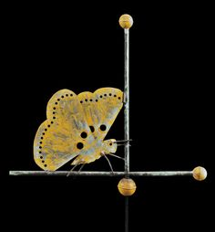 Antique Weathervane: copper butterfly weathervane, attributed to J.W. fiske, New York, late 19th Century to be auctioned on Aug 12, 2012 in MA Estimate:$8,000 -$12,000