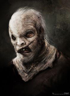 Leatherface Concept Art for TEXAS CHAINSAW 3D