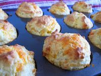 Easy Cheese Muffin Recipe http://practicalcookie.blogspot.com/2013/08/easy-cheese-muffins.html
