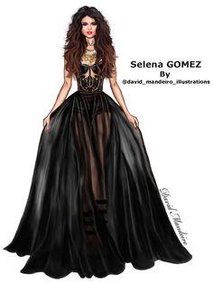 Selena Gomez by David Mandeiro Illustrations Selena Gomez #digitaldrawing by David Mandeiro Illustrations #SelenaGomez #digitalart #digital