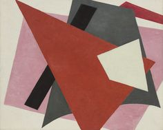 Lyubov Popova. Painterly Architectonic. 9/22/16 This painting caught my attention due to the geometric shapes involved. The art piece shows suprematist elements in it and it's geometrically abstract. The painting also shows depth with the different shapes piled on top of each other.