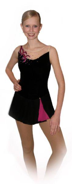 velvet and chiffon skating dress