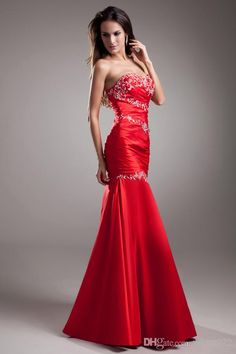 Cheap Sweetheart Prom Dresses - Discount 2014 Taffeta Embroidered Sweetheart Sleeveless Mermaid Trumpet Prom Online with $99.79/Piece   DHgate