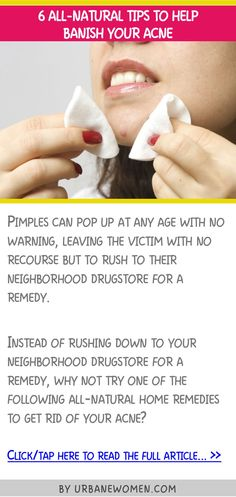 6 all-natural tips to help banish your acne