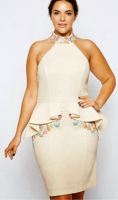 at Forever Unique // Solange peplum dress