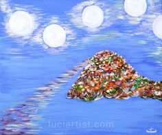 Original oil painting. Painting-№6; author: Luci Zh. Issina. 2006.