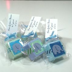 elephant baby shower favors boy elephant shower by lalalipsie