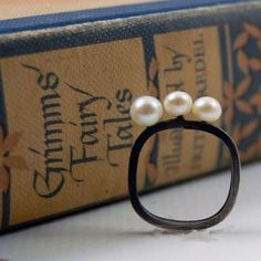oxidized silver ring: by Marie K