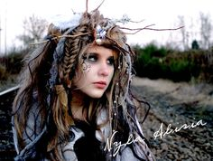 Wandering Willow Wisp  Wig - Example of Special Order- Wig Hair Headpiece Costume Faerie world Renaissance Fairy Wedding Steampunk theater. $129.99, via Etsy.