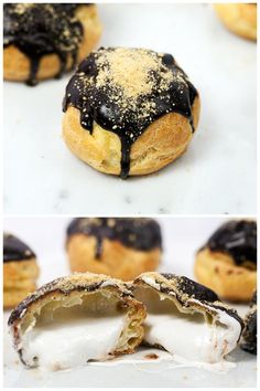 Delicous S'mores Cream Puffs for a wonderful summer dessert. We're SO in.