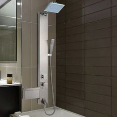 Vigo Sutherland Rain Waterfall Shower Panel with Jets and Hand Shower Diverter/Thermostatic & Reviews | Wayfair