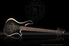 """Mayones Guitars Basses  Mayones Be 5 Elite EP Bass, Eye Poplar top, Profiled Swamp Ash body back & Wenge middle, Trans Black Satine finish, Bolt-on construction, 5-ply Mahogany / Hard Rock Maple two graphite rods reinforced neck, Trans Natural Wood Satine finish, Rosewood fretboard, 24 Ferd Wagner medium jumbo frets, 20"""" radius, 34.25"""" scale, only side dot markers, Aguilar Amplification DCB Dual Ceramic Magnet Soapbar pickups, Mayones M-BP3 18V 3-band preamp with 400-800Hz mid switch…"""
