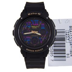 Casio Baby-G Black Alarm Watch BGA-151GR-1B