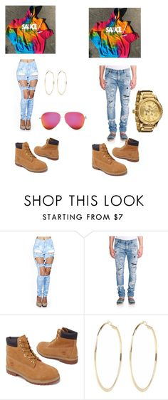 """""""His an her outfit"""" by xbbygirlbrix ❤ liked on Polyvore featuring Dolce&Gabbana, Timberland, River Island and Nixon"""