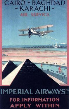 Imperial Airways Cairo Baghdad Karachi