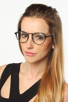 c021822ba83  Diane  Thin Round Clear Glasses - Black  5078-1 Eyeglasses For Women