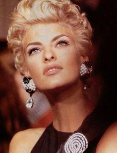 "lalinda-evangelista: ""Linda Evangelista for Valentino (1991) """