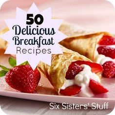 50 Delicious Breakfast Recipes - Click image to find more hot Pinterest pins