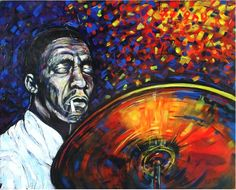 ARTFINDER: Moanin' (Art Blakey) by DASMANG (Gary Aitken ) - Art's driving rhythms and his incessant two and four beat on the high hat cymbals were readily identifiable from the outset and remained a constant throughou. High Hat, Original Art For Sale, Interesting Faces, New Words, Lovers Art, The Past, Artist, Artwork, Painting