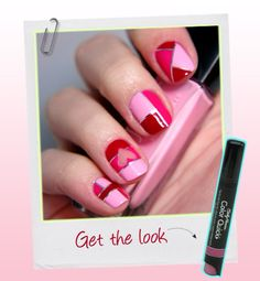 Cute Valentine day nails