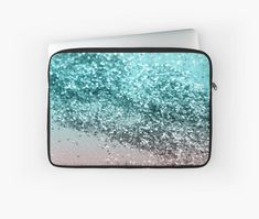 """Tropical Summer Vibes Glitter #2 #decor #art"" Laptop Sleeves by anitabellajantz 