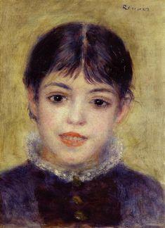 Smiling Young Girl  --   Pierre Auguste Renoir - circa 1878
