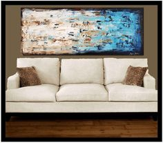 """72"""" art  painting  abstract painting large painting from jolina anthony direct from my studio fast and free shipping. $539.00, via Etsy. Abstract Landscape, Abstract Art, Large Art Prints, Color Depth, Wish You The Best, Stick It Out, Large Painting, Love Seat, Colours"""
