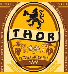 cerveza thor, madrid Beer Labels, Bottle Labels, Beer Bottle, Spanish Holidays, Viking Designs, Beer 101, Beer Coasters, Poster Ads, Viking Age