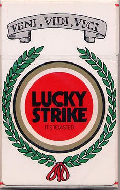 Vintage Lucky Strike Cigarette Packaging