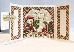 Altered Scrapbooking: Gatefold Christmas Card