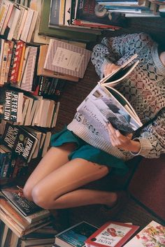 lying on the floor! filled with books!