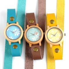 d2e040d03be9b Estilo Fashion, Nova Moda, Moda Mulhere, Relógio De Madeira, Relógios  Fashion,