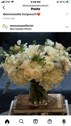 Good Shabbos, White Floral Centerpieces, Flower Arrangements, Flowers, Floral Arrangements, Royal Icing Flowers, Flower, Florals, Floral
