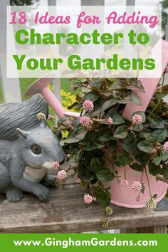 Gingham Gardens has the best ideas for decorating your flower garden using reinvented and upcycled vintage junk all in one place! Lots of garden decor junk ideas you can copy for your own gardens. Plus, the best places to find old junk to repurpose for your gardens and ideas for arranging and creating garden vignettes. Also, includes ideas for using natural elements like stones and logs in your gardens. #rusticgardendecor #countrygardens #fleamarketgardening Rustic Garden Decor, Vintage Garden Decor, Garden Art, Garden Ideas, Vintage Milk Can, Old Wicker, Wooden Tool Boxes, Flea Market Gardening, Recycled Garden